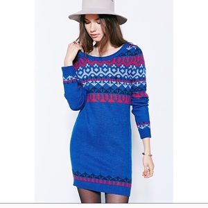NWT Ryder x Urban Outfitters Blue Sweater Dress XS